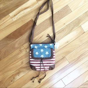 American Flag Crossbody Purse